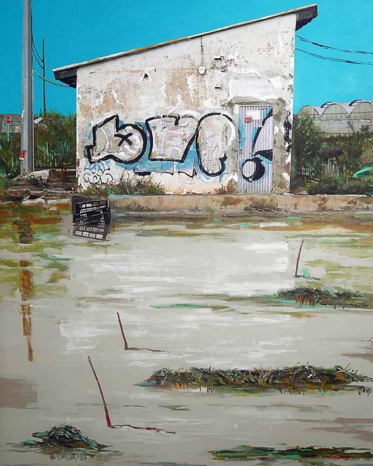 Cami-de-la-mar-92x116-cm-Tinta- Pigmentada-Acrilico-Collage-Lienzo-carrasco-lopez