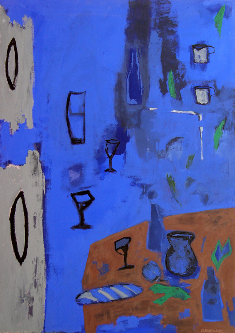 Bodegón-1998 acrílico-lienzo 140x100 cm