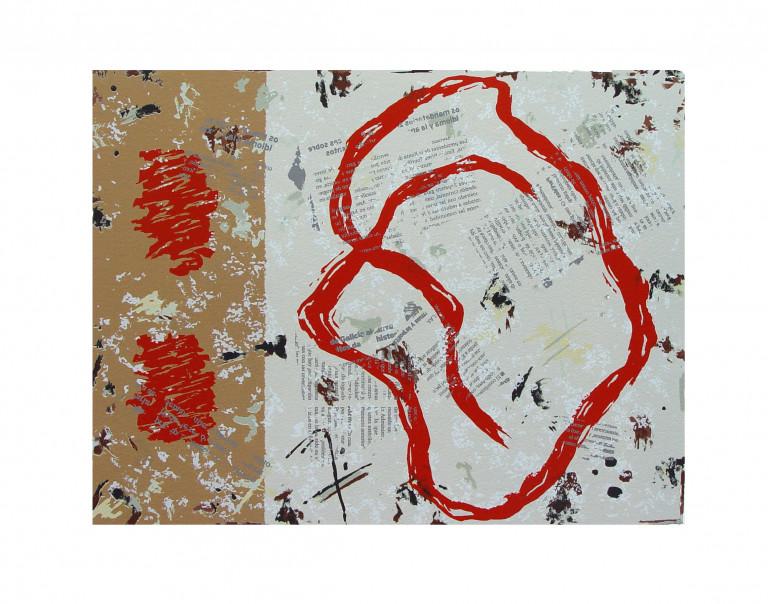 Fragmentos II 2006 Fabriano 65x50-serigrafía