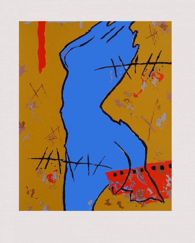 Azul 1997 Fabriano 65x50-serigrafía