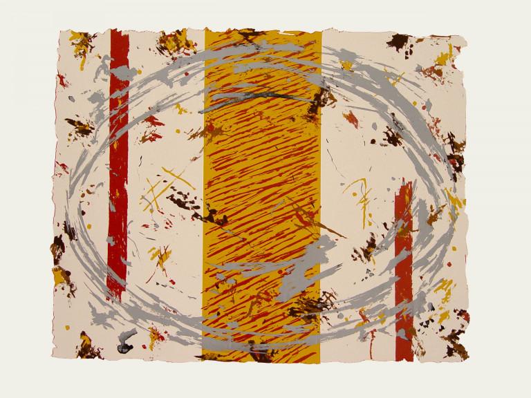 Círculo Gris 2006 Fabriano 65x50-serigrafía