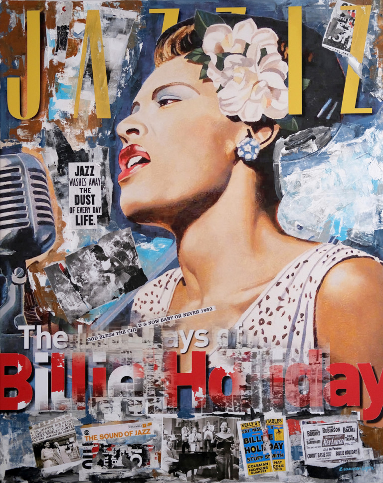 BILLIE HOLIDAY WEB Mixta-Collage -Lienzo 92x116 cm